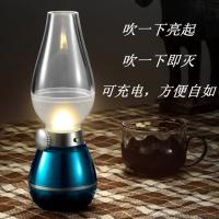 Đèn dầu điện tử cảm biến thổi tắt, sáng