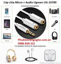Cáp chia Mic và Audio chính hãng Ugreen 10789