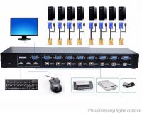 Bộ Switch KVM 8 port 8 CPU ra 1 màn hình chính hãng MT-Viki