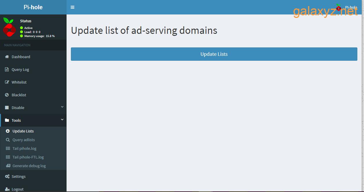 Cập nhật giao diện web danh sách các domain  phân phát quảng cáo