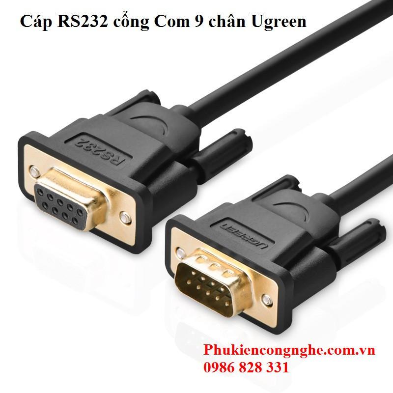 Cáp RS232 cổng Com 9 chân 1.5m âm dương chính hãng Ugreen UG-20145