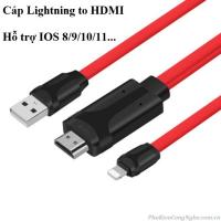 Cáp HDMI cho iPhone 6 / 7 / 8 / X, iPad kết nối Tivi, Máy chiếu cao cấp