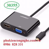 Cáp micro HDMI to HDMI + VGA chính hãng Ugreen 30355 / 30354
