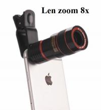 Len zoom 8X cho Điện thoại